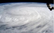 Taifunul Haiyan vazut din spatiu